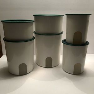 Tupperware One Touch Canister Set (6)